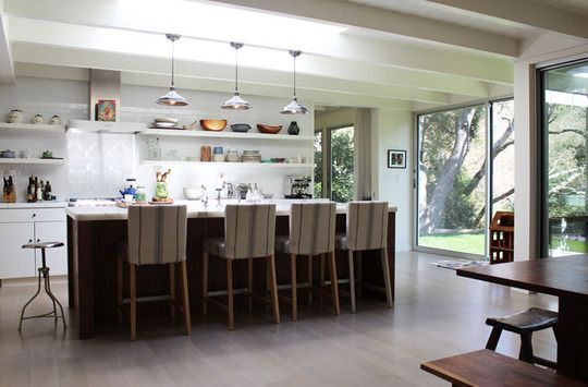 Dream kitchen = white tile, open, airy, modern and rustic with wood/warm finishes.  Sigh.