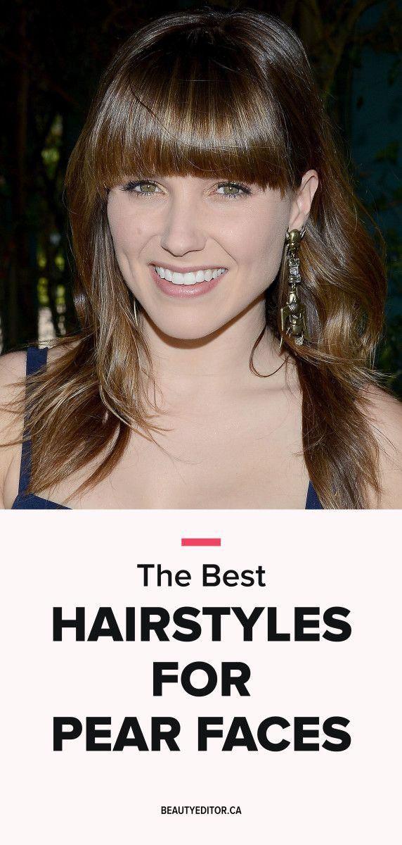 The best hairstyles for a pear-shaped face, according to celebrity hairstylist Tony Chaar.
