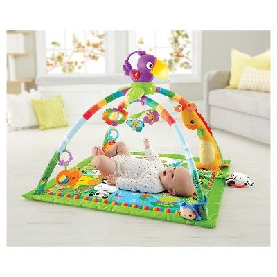 Fisher-Price Rainforest Music & Lights Deluxe Gym, Tropical Green