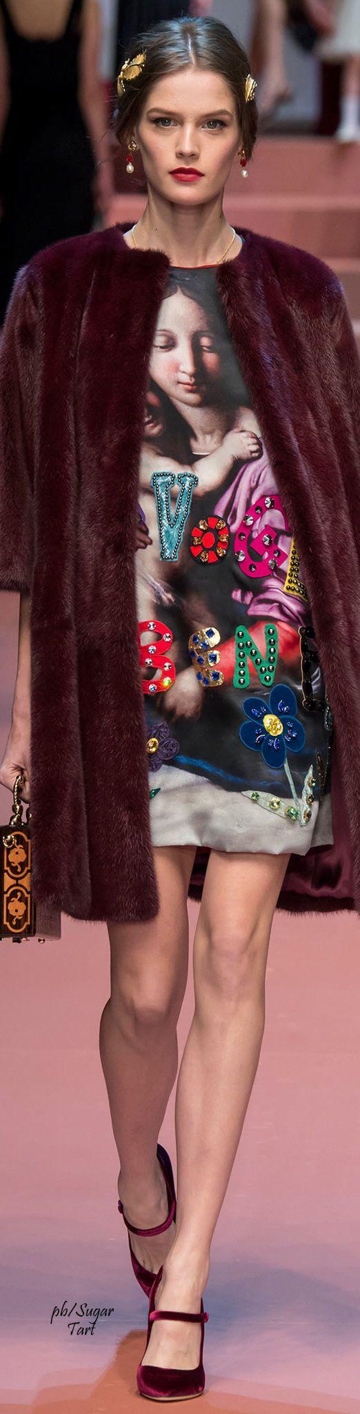 Dolce & Gabbana Fall 2015 | The House of Beccaria#