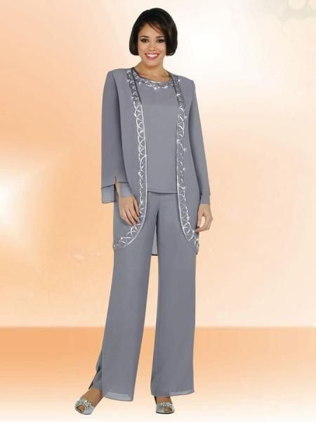 2016 Grey Formal Chiffon Mother Of The Bride Pant Suits Shining Sequin Long Sleeve Jacket Plus Size Three Pieces Evening Dresses For Mothers The Doctors Mom Mother Of The Bride Suit From Wanyuweddingdress, $123.57  Dhgate.Com