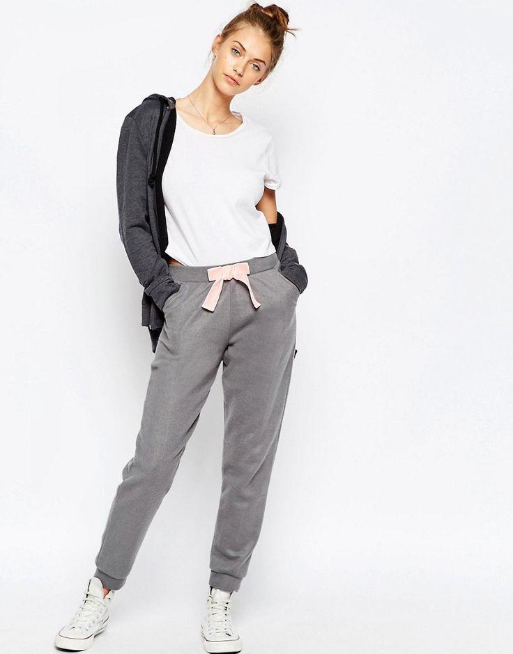 Image 1 - ASOS - Pantalon de jogging en maille ultra douce avec nœud en velours