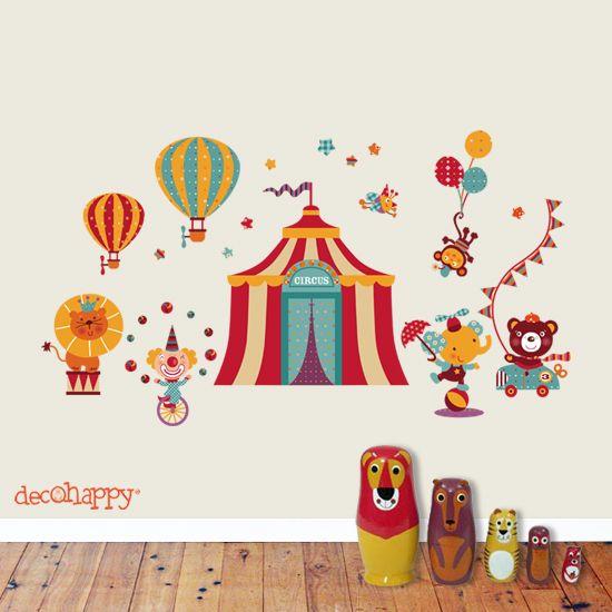 Vinilo infantil circo m gico vinilosinfantiles for Vinilos infantiles bebe