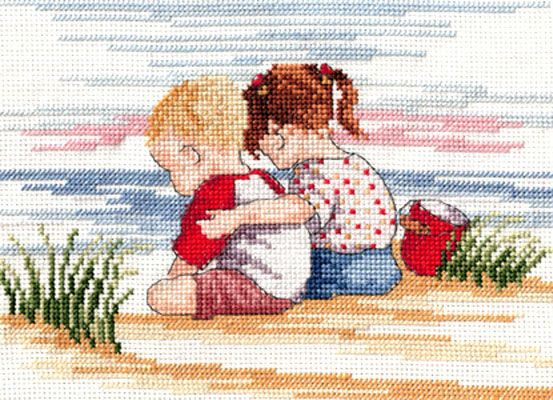 """All our Yesterdays, Faye Whittaker """"Sibling Love"""" Kreuzstichpackung / cross stitch kit"""