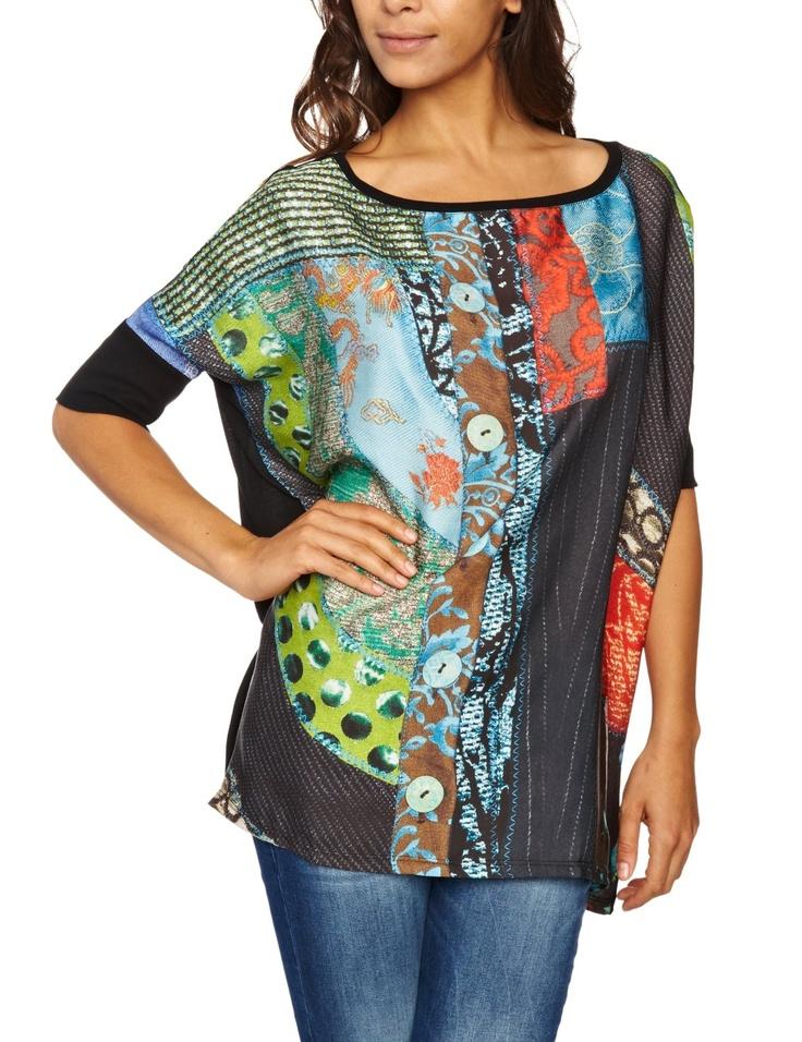 Desigual Womenu0027s Caracas Dolman Sleeve Blouse 27t2573 Price: $99.00