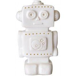 Heico, Lamp robot wit Figuurlamp van het Duitse merk Heico in de vorm van een robot. Deze schattige vintage lamp geeft een zachte sfeerverlichting, net genoeg om kleine kinderen een heerlijke nachtrust te bezorgen.  De kindvriendelijke lampen van Heico zijn gemaakt van stevig kunststof, ze kunnen wel tegen een stootje. #heico #lamp #verlichting #sfeerlamp #kinderkamer #babykamer #robot #jongen #jongenskamer #wit #engeltjesendraken #leiden