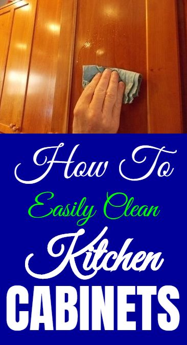 How to remove Grease from Cabinets, without damaging wood ...