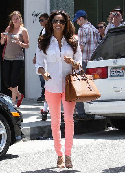 Eva's jeans: skinny jeansChic Outfit, Colors Pants, Casual Outfit, Skinny Jeans, Style, Pastel Jeans, Eva Longoria, Eva Jeans, Dreams Closets