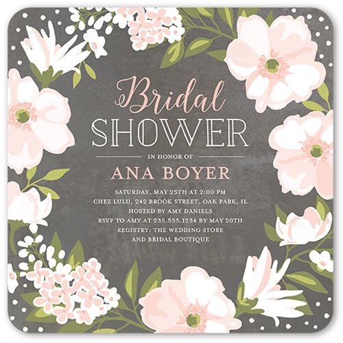 Beautiful Bouquet 5x5 Flat Stationery Card by Stacy Claire Boyd