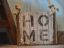 Drewniana tabliczka - Home