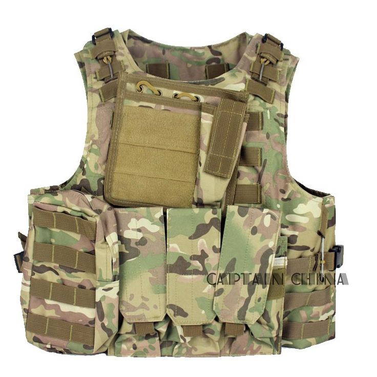 43.45$  Buy here - http://ali8c4.shopchina.info/go.php?t=32637791350 - CS Tactical Vest Black Airsoft Tactical Hunting Paintball Molle Plate Carrier Adjustable Vest  #magazine