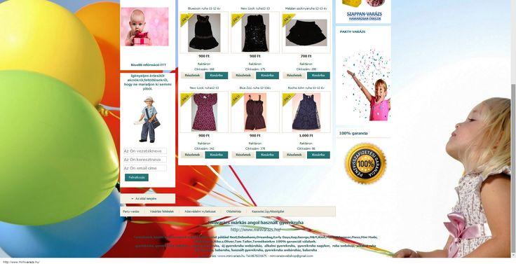 AKCIÓ!!! Márkás,divatos lány ruhák,1000 Ft alatt. Amíg a készlet tart. http://www.minivarazs.hu/