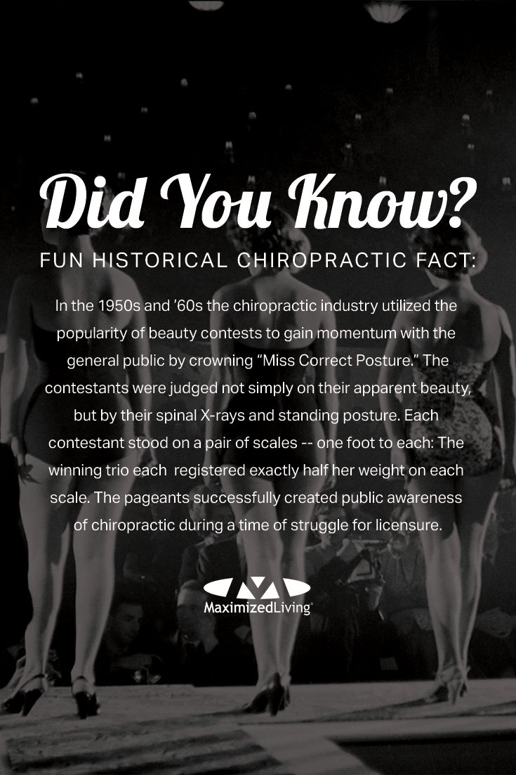 Check out this classic part of chiropractic history. Do you think you could have been 'Miss (or Mister!) Correct Posture?' #TBT