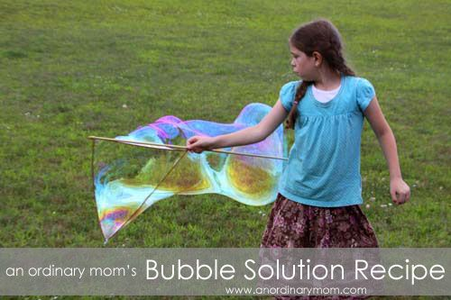 Easy bubble solution recipe