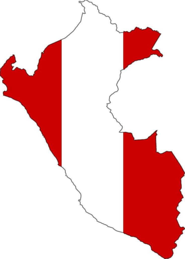 Peru Flag Map 1 large map