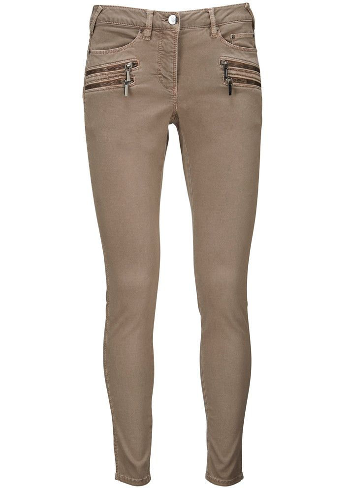 Gustav Bukser gråbrune 20031 5 Pocket Stretch Pants - 245 woodsmoke – Acorns