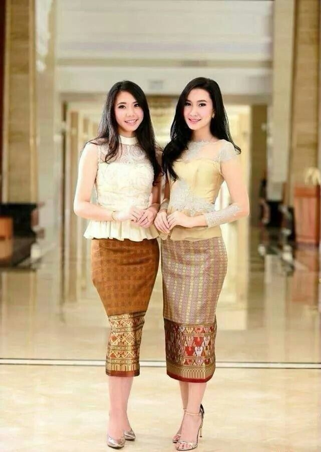 17 best images about lao silk shirt on pinterest for Laos wedding dress for sale
