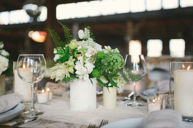 love this color palette of whites and greens