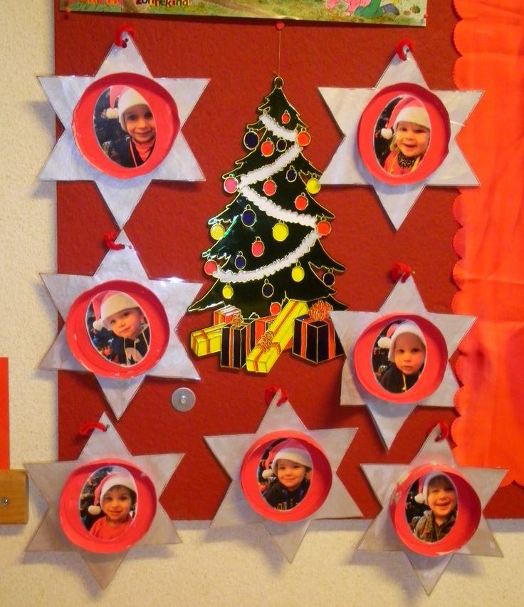 Sterren met foto's van de kindjes voor in de kerstboom *liestr*