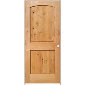Reliabilt Solid Core Knotty Alder Single Prehung Interior Door (Common: 36-In X 80-In; Actual: 37.375-In X 81.312-In) Lo