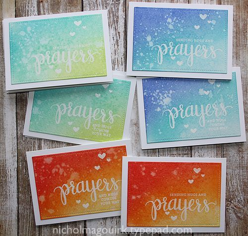 Emboss resist with Nichol Magouirk! This is a great technique with the Simon Says Stamp Prayers stamp set!