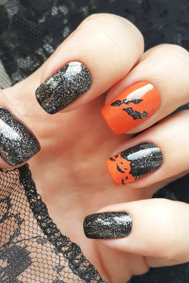 $5.00 - Halloween Vinyl Nail Stencils - incredible nail art stencils set by Unail #ad #nails #nailart #naildesigns #DIYnails #halloween #halloweennails #pumpkins #bats #witches #stencils #professionalpinner