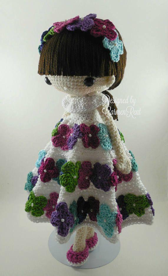 September and her Rabbit Amigurumi Doll Crochet Pattern PDF