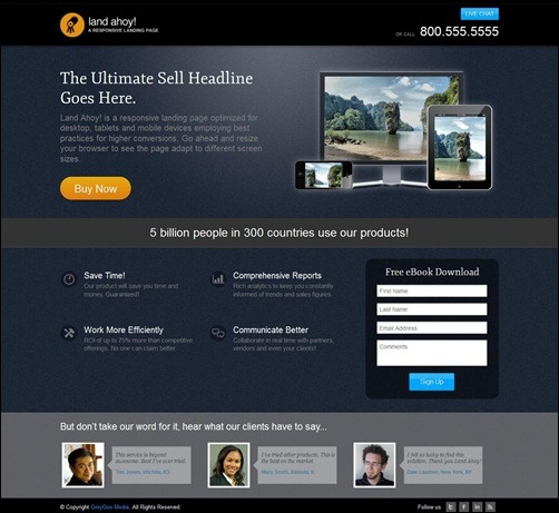 30 Useful Landing Page Templates To Boost Your Conversion