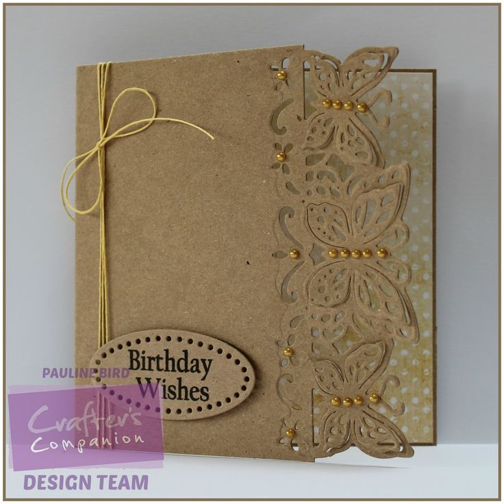 I have a Crafter's Companion card to share today, this one uses the Die'sire Papillon Edge'ables die. A simple design, I die cut the ...