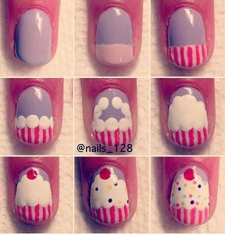 birthday nail designs | Easy Happy Birthday Nail Art Tutorials For  Beginners Learners 2014 1 . - Best 25+ Cupcake Nail Art Ideas On Pinterest Easter Nails, Pink