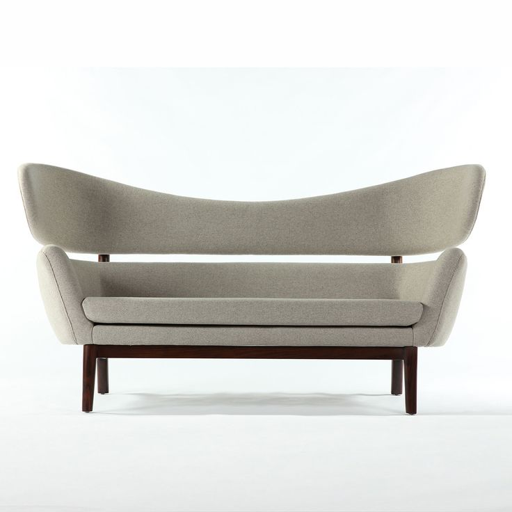 MMF Modern Sofa with Wheat Wool Upholstery