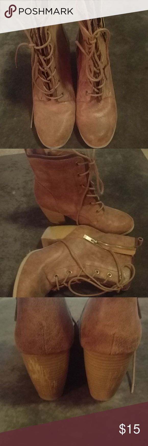 Maurices boots Size 9, work maybe twice, to high for us, excellent condition except for scratches on back of heel, took a picture to show that 😁 Maurices Shoes Ankle Boots & Booties
