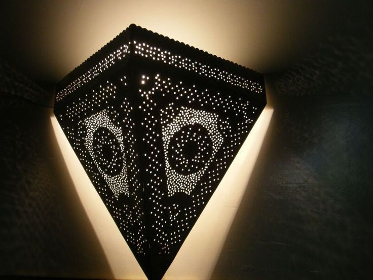 Handmade Silver Moroccan Brass Wall Sconce Lamp Light #7 - 100% Egyptian eBay Lighting ...