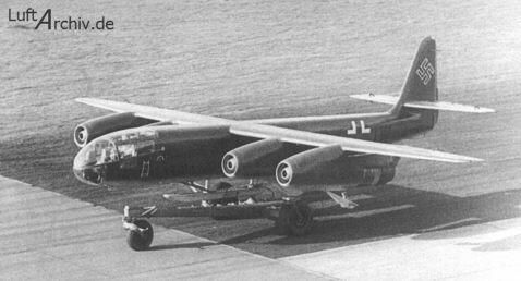 Arado Ar 234 built in the closing stages of WW2, the last Luftwaffe aircraft to fly over UK during the war, April 45