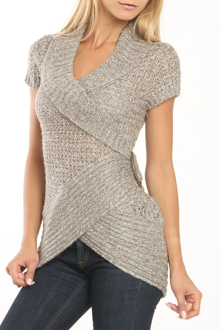 La Classe Couture Speed Dial Sweater In Beige Twist
