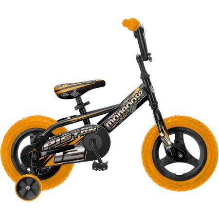 Mongoose Piston 12 inch Boys' Bike, Orange