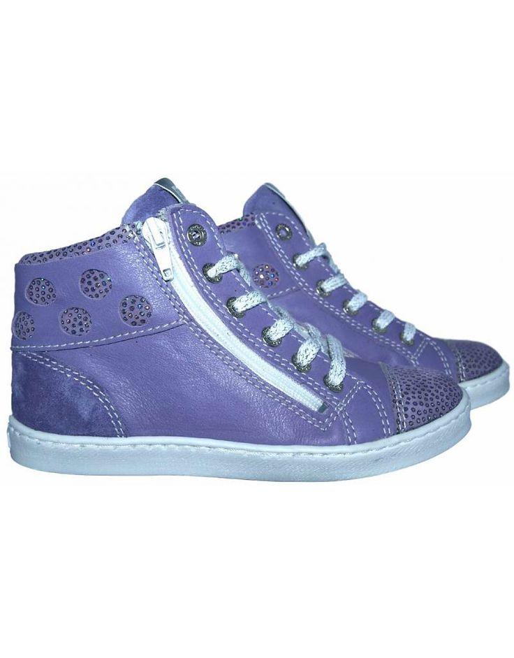 Piedro sneaker - Paars met glitters. Sale €49,95