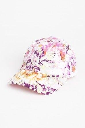 Floral snapback cap