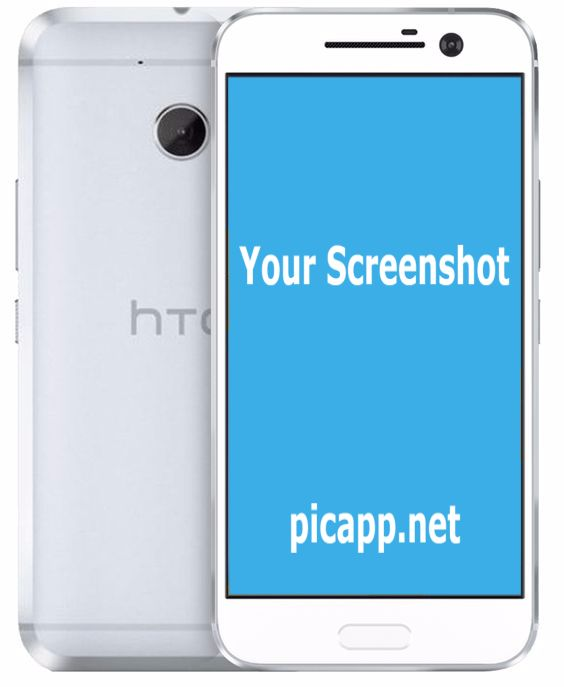 White HTC 10 smartphone image. Portrait, front and back view. Place your app screenshot inside this image in just a few easy clicks on PicApp.net.