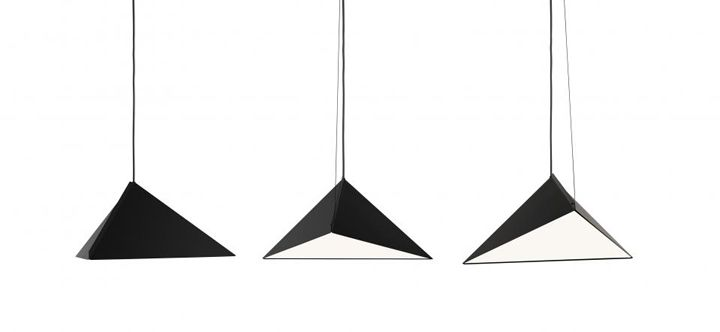 zero - TOP, in white or black painted metal. Diffuser in matt acrylic. The angle of the shade can be adjusted with a wire.