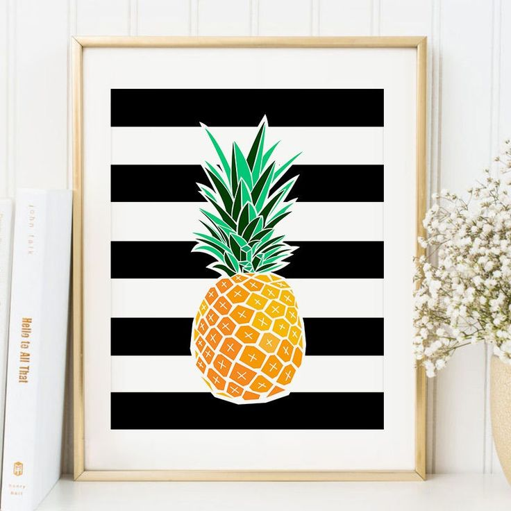 Pineapple Art Print Tropical Wall Decor