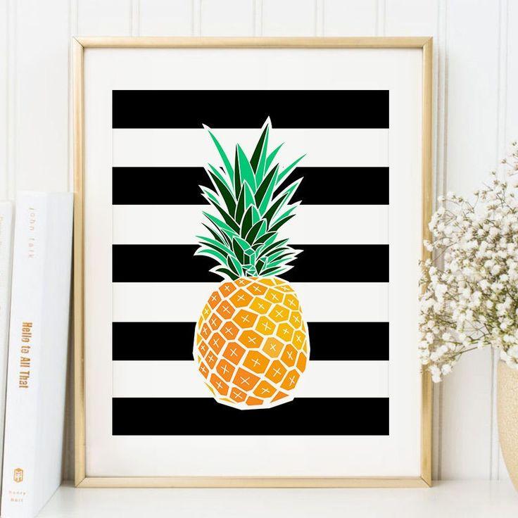 Pineapple Art Print Tropical Wall Decor