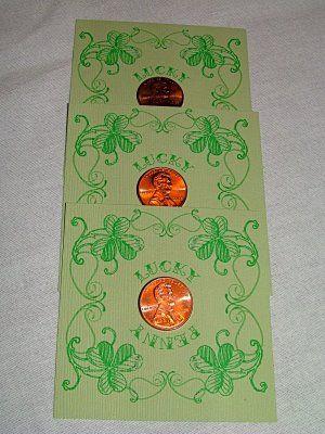Give a lucky penny card - printable