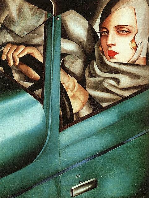 Tamara de Lempicka Self Portrait 1925.