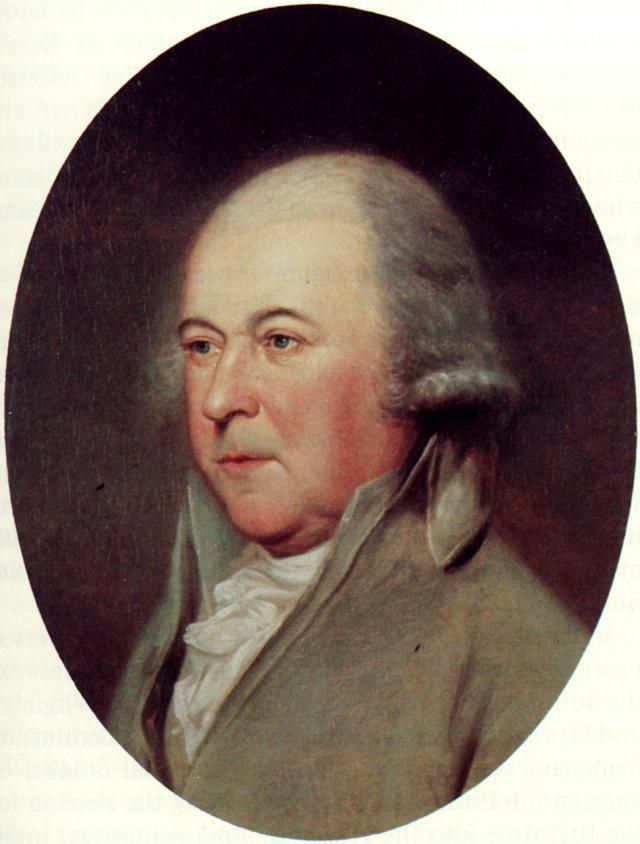 A Profile of the John Adams, the 2nd President of the US: Portrait of John Adams, Second President of the United States. Oil by Charles Wilson Peale, 1791.