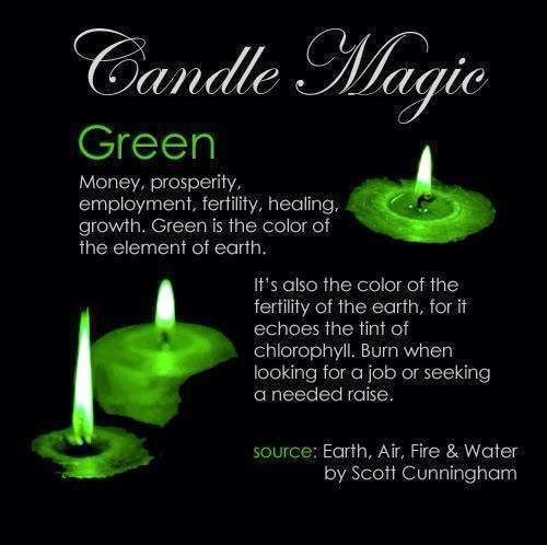 Candles:  #Candle Magic ~ Green.