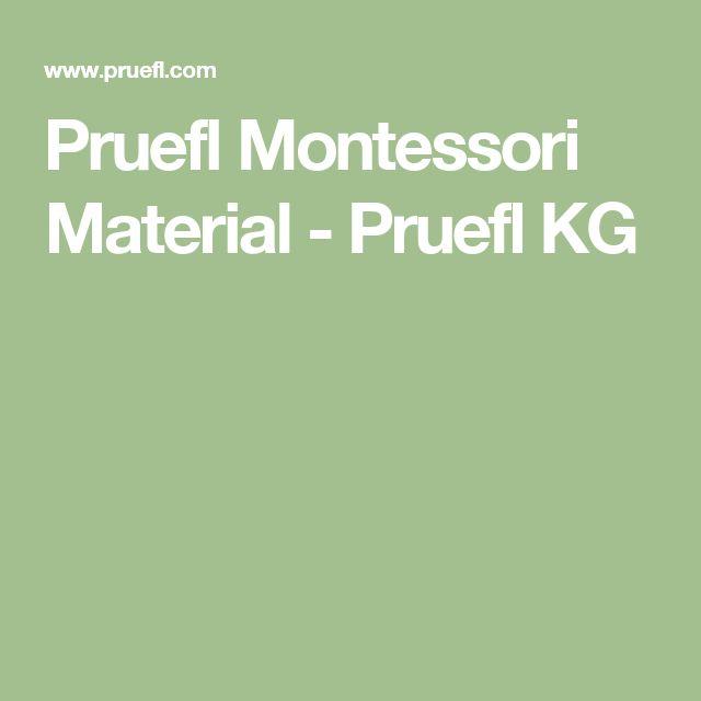 Pruefl Montessori Material - Pruefl KG
