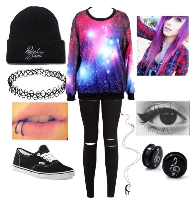 Purple Galaxy - Emo Outfit | Emo | Pinterest | Emo outfits Emo and Clothes