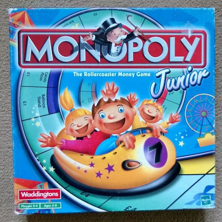 Monopoly Junior - The rollercoaster money game. For children aged 5 - 8