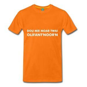 Gronings T-shirt olifant'noor'n / Kroepoek - Mannen Premium T-shirt